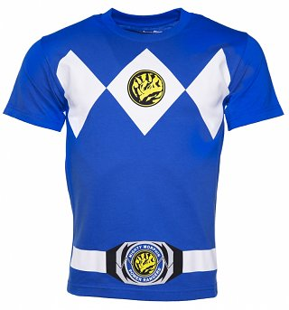 Men's Blue Power Rangers Costume T-Shirt