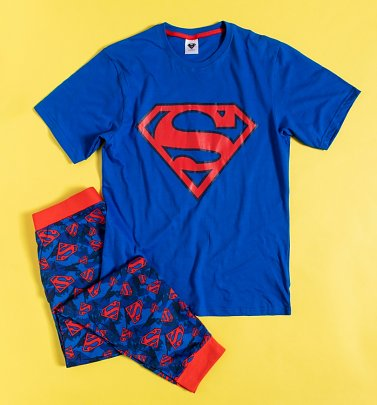 Men's Blue Superman DC Comics Pyjamas