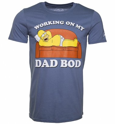 Men's Blue The Simpsons Dad Bod T-Shirt