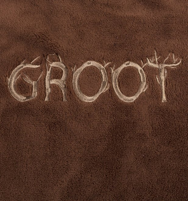 Men's Brown Marvel Comics Guardians Of The Galaxy Groot Hooded Dressing Gown