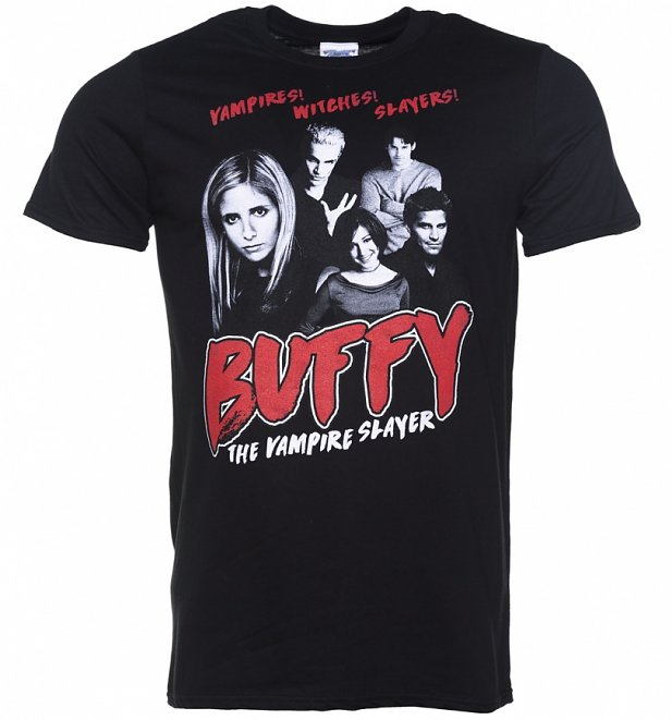 Men's Buffy the Vampire Slayer Gang Black T-Shirt