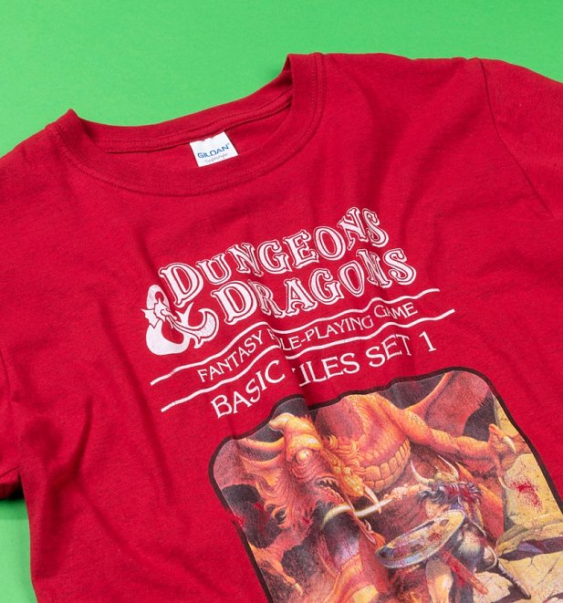 Men's Burgundy Dungeons & Dragons Game T-Shirt