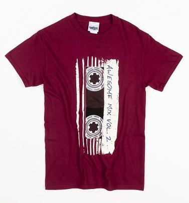 Men's Burgundy Marvel Comics Guardians Of The Galaxy Mix Tape Vol 2 T-Shirt