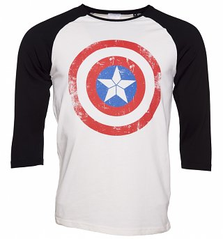 Men's Captain America Marvel Comics Baseball T-Shirt