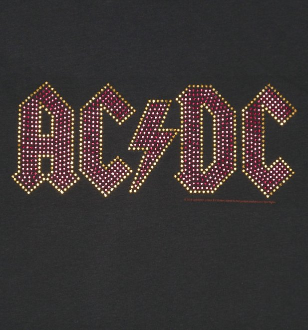 Men's Charcoal AC/DC Red Diamante T-Shirt from Amplified