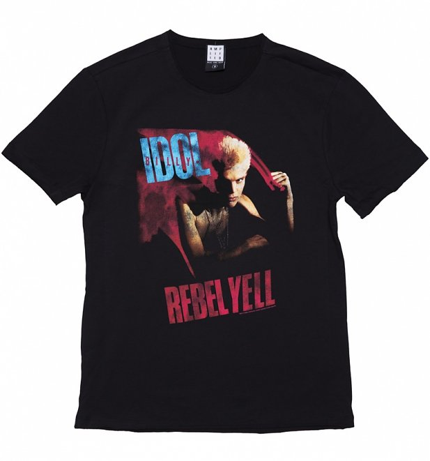 Men's Charcoal Billy Idol Rebel Yell T-Shirt from Amplified