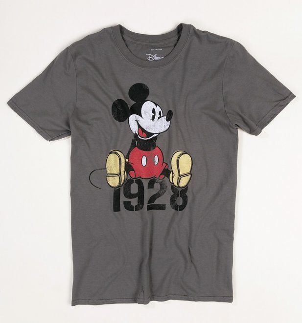 Men's Charcoal Disney Mickey Mouse 1928 T-Shirt