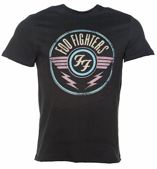Men's Charcoal Foo Fighters FF Air Logo T-Shirt from Amplified