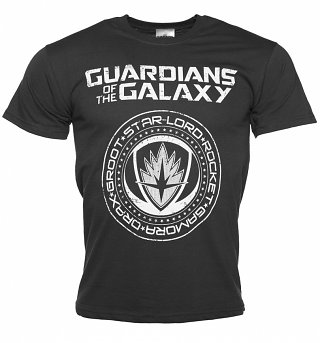 Men's Charcoal Guardians of The Galaxy Crest Logo T-Shirt