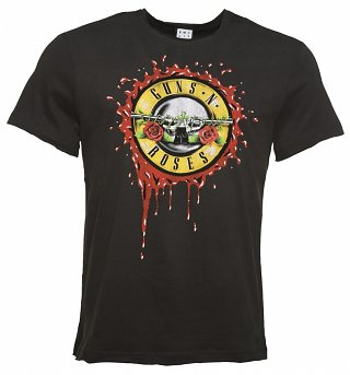 Men's Charcoal Guns N' Roses Bloody Bullet T-Shirt from Amplified