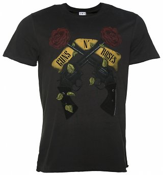 Men's Charcoal Guns N' Roses Shooting Roses T-Shirt from Amplified