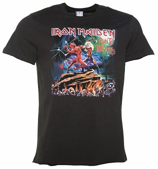 Men's Charcoal Iron Maiden Run To The Hills T-Shirt from Amplified