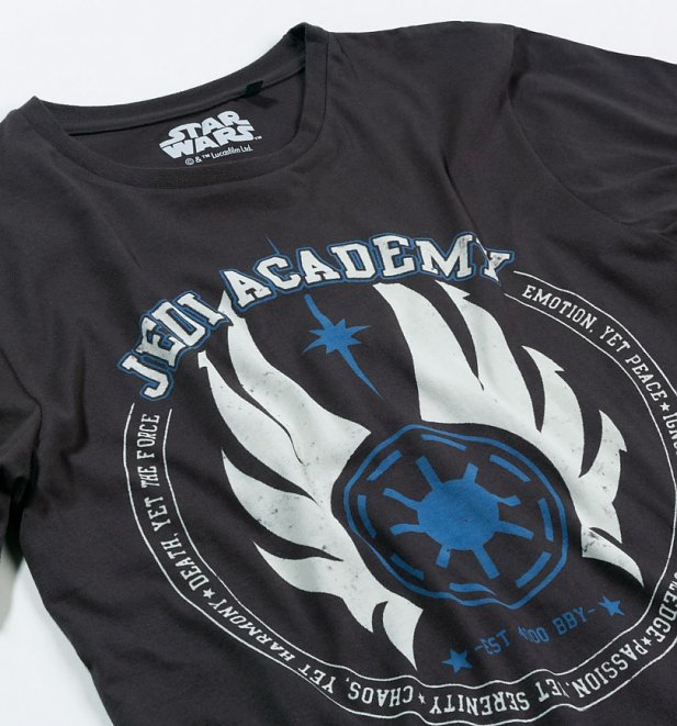 Men's Charcoal Jedi Academy Star Wars T-Shirt