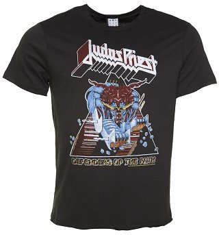 Men's Charcoal Judas Priest Defenders Of The Faith T-Shirt from Amplified