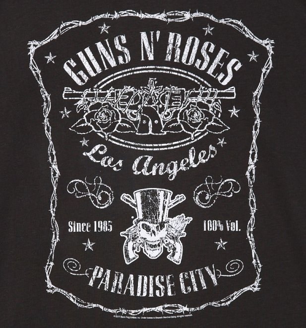 Men's Charcoal Guns N' Roses L.A Paradise City T-Shirt from Amplified