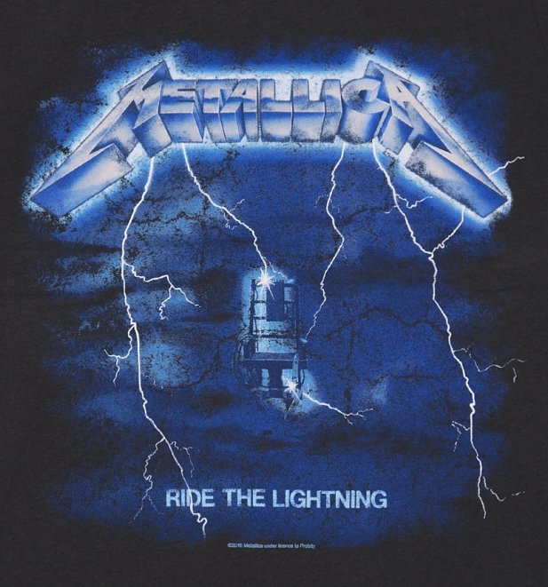 Men's Charcoal Metallica Ride The Lightning T-Shirt from Amplified