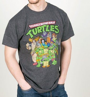 Men's Charcoal Teenage Mutant Ninja Turtles Cast T-Shirt