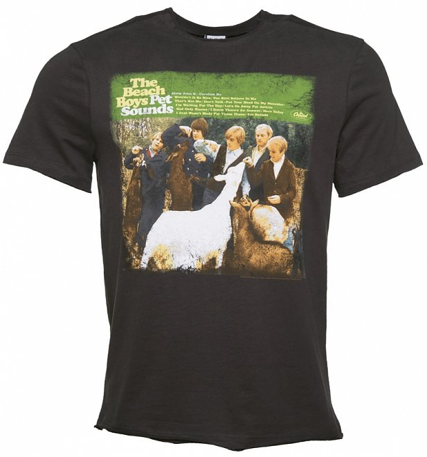 Official men 39 s charcoal the beach boys pet sounds t shirt for Beach t shirts for men