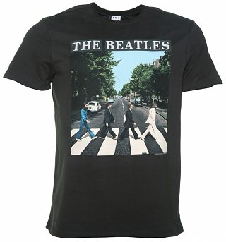 Men's Charcoal The Beatles Abbey Road T-Shirt from Amplified