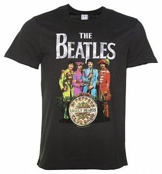 Men's Charcoal The Beatles Sgt Pepper's T-Shirt from Amplified