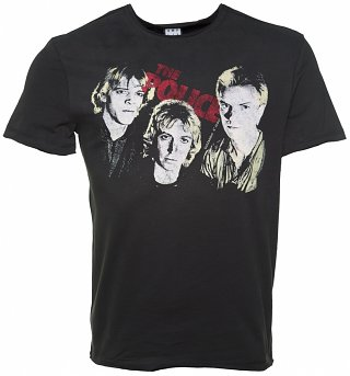 Men's Charcoal The Police Outlandos D'amour T-Shirt from Amplified