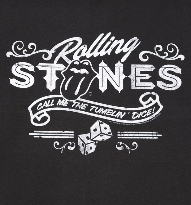 Men's Charcoal The Rolling Stones Tumblin' Dice T-Shirt from Amplified