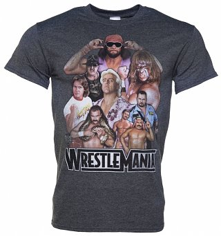 Men's Charcoal WWE WrestleMania Legends T-Shirt