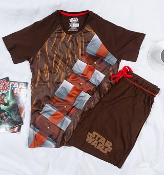 Men's Chewbacca Star Wars Shortie Pyjamas from Difuzed