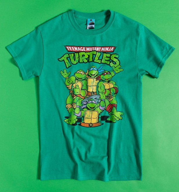 Men's Classic Teenage Mutant Ninja Turtles Green T-Shirt