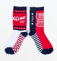 Men's Coca-Cola Americana 2pk Socks