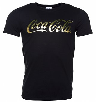 Men's Coca-Cola Gold Foil Logo T-Shirt