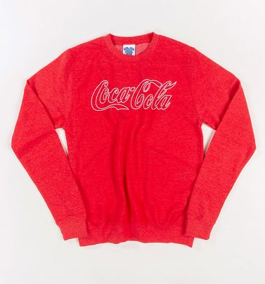Men's Coca-Cola Logo Outline Heather Red Sweater