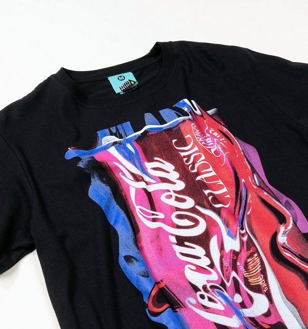 Men's Coca-Cola Neon Can Black T-Shirt