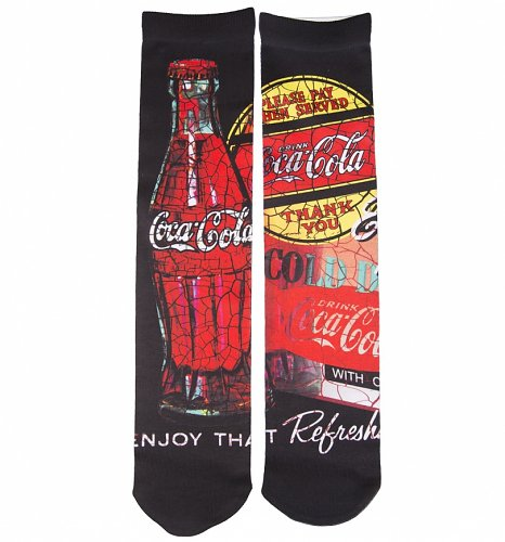 Men's Coca-Cola Photo Print Socks
