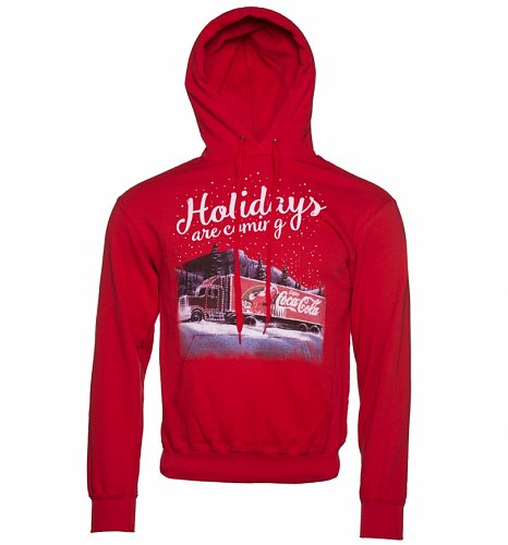 Men's Coca-Cola Truck Holidays Are Coming Hoodie