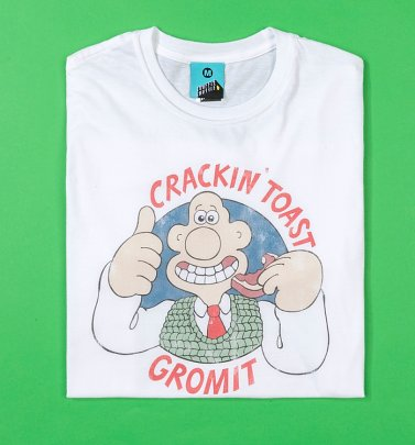 Men's Crackin' Toast Gromit White T-Shirt