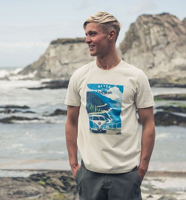 Men's Cream VW Camper Van T-Shirt