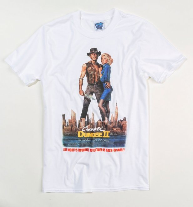 Men's Crocodile Dundee II Movie Poster White T-Shirt