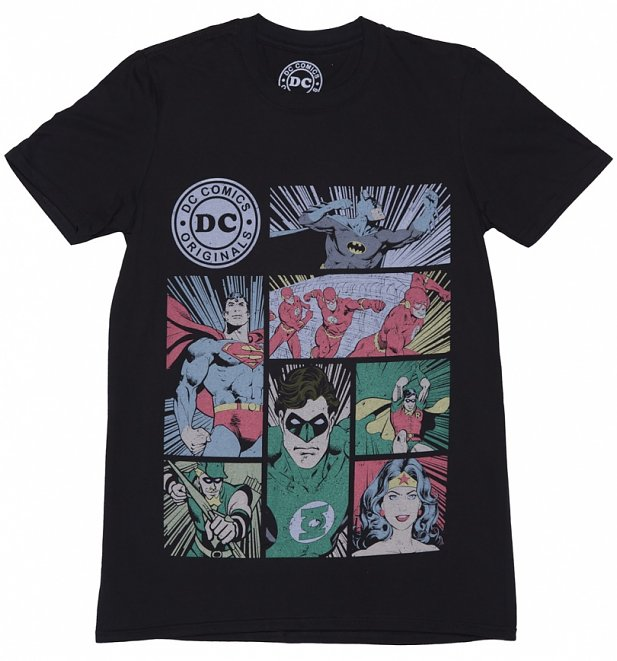 Men's DC Comics Originals Superhero Panels T-Shirt