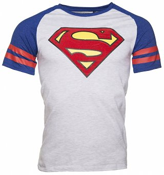 Men's DC Comics Superman Baseball T-Shirt