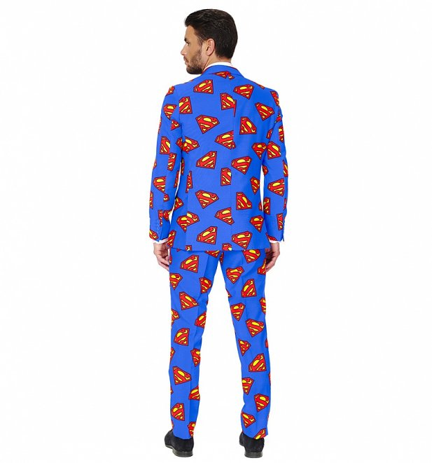 Men's DC Comics Superman Logo Suit With Tie from OppoSuits