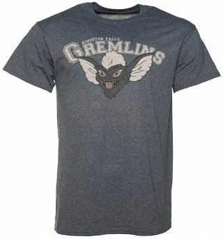 Men's Dark Grey Marl Gremlins Kingston Falls T-Shirt