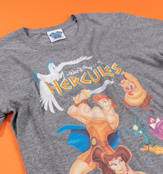 Men's Disney Hercules Video Cover Graphite Heather T-Shirt