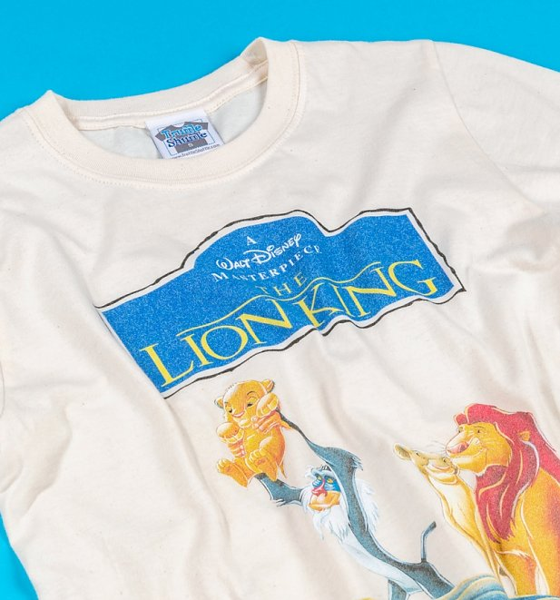 Men's Disney The Lion King Video Cover Natural T-Shirt