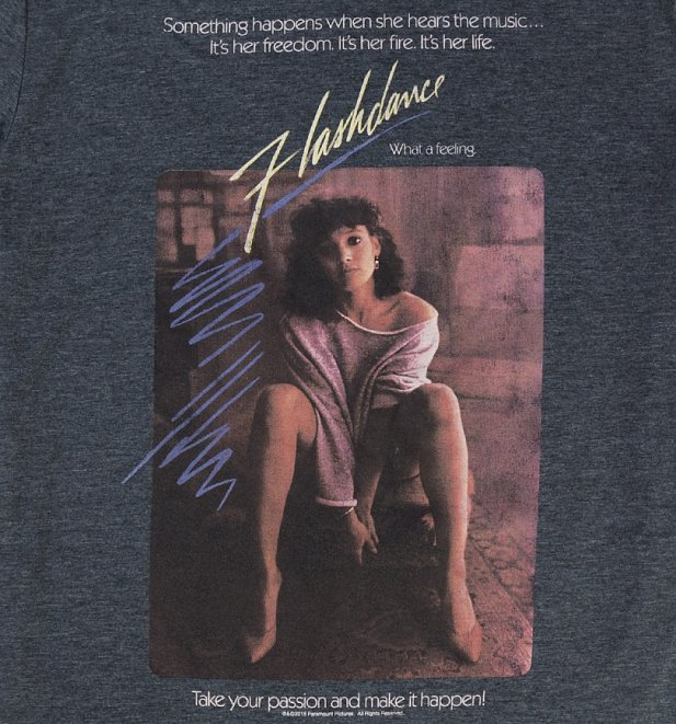 Men's Flashdance Movie Poster Dark Heather T-Shirt