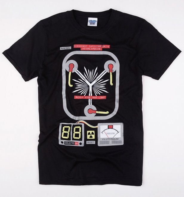 Men's Flux Capacitor Black T-Shirt