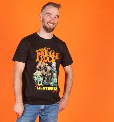 Men's Fraggle Rock Lighthouse Tour Black T-Shirt