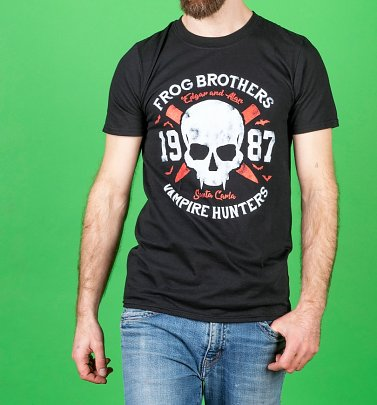 Men's Frog Brothers Vampire Hunters Lost Boys Inspired Black T-Shirt
