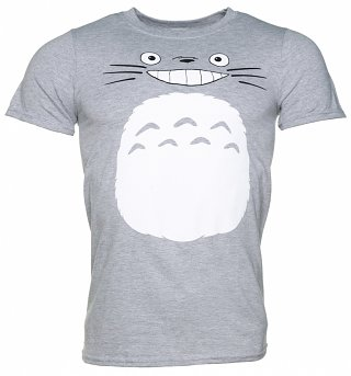 Men's Ghibli Totoro Inspired Grey T-Shirt