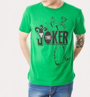Men's Green Joker Logo T-Shirt from For Love and Money